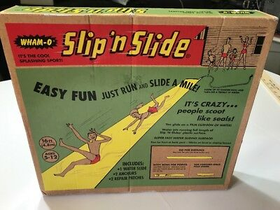 WHAM-O SLIP 'N SLIDE New in Box 16 FT YELLOW Ages 5-12 Made in 2015 Vintage (H5)