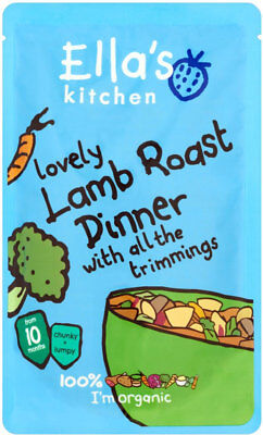 Ella's Kitchen Organic Lovely Lamb Roast Dinner with All the Trimmings 10mth+
