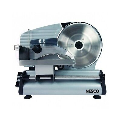 Electric Food Slicer Large Heavy Duty Cast Aluminum Body Stainless Steel Blade