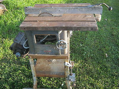 """Atlas Table Saw 10"""" Vintage Heavy Duty 3060 1Hp With Stand Tablesaw"""