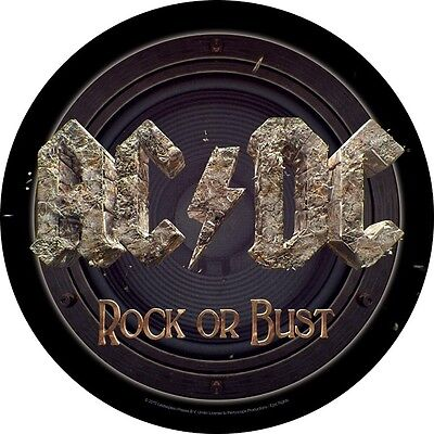 AC/DC rock or bust Back Patch XLG free worldwide shipping