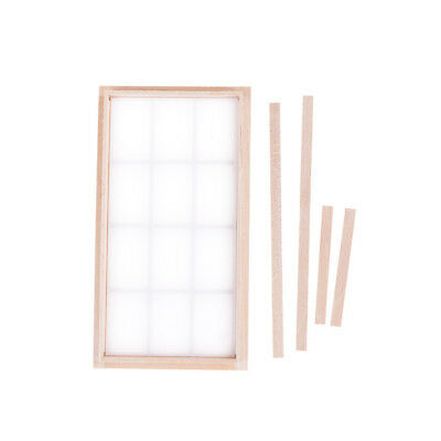 1:12 Dollhouse Miniature Wooden Traditional 12-pane Mini Window Frame LE