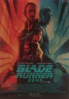 Blade Runner 2049 27x40 Movie Poster COMPLETE CAST SIGNED x12! Ford Leto Gosling