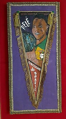 Painting of Pele 1958 owned and signed by Pelé