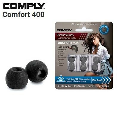 Comply Foam TSX-400 Comfort + WaxGuard 3 Pairs Earphone Tips Medium Black TM