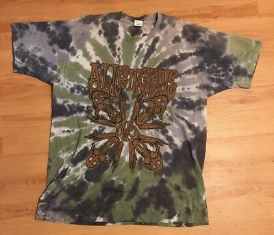 1992 Vintage Alice In Chains Dirt Tie Dye Shirt Sz: XL Front & Back Print