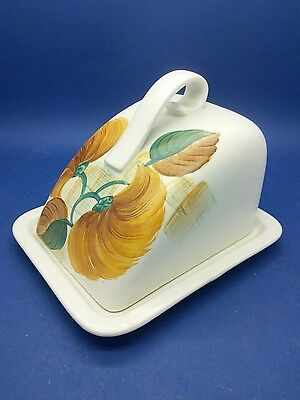 Vintage Radford Compact Cheese Lidded Dish Wedged Dome Hand Painted Art Deco