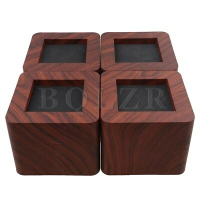 10.7x10.7x8.7cm Square Furniture Bed Riser Lifts Set of 4 Coffee