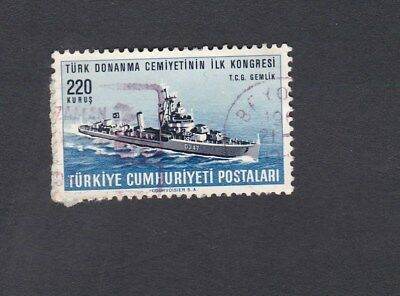1965 TURKEY 220k. SHIP Turkish Naval Society Congress SG #2132 USED