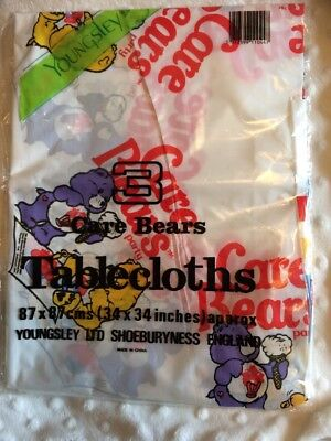 Vintage Care Bears Party Plastic Tablecloths Pack Of 3, 1984 - Awesome Item ❤️❤️