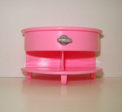 Mattel Inc.1998 Pink Side/end Table Furniture For/fits Dollhouse Barbie Doll