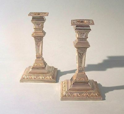 Pair of Antique Silver Plated Candlesticks. Thomas Wilkinson. England.