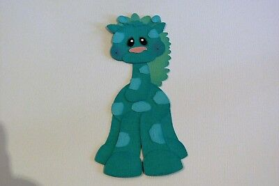 Aqua Giraffe Fully Assembled Die Cut