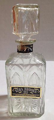 EZRA BROOKS 90 Proof Whisky Decanter - EMPTY