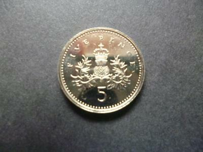 1992 Brilliant Uncirculated Five Pence Piece 1992 Uncirculated 5P Coin.