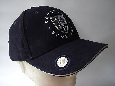 Golf Gift - Scotland Navy Cap Hat With Ball Marker - Old Course St Andrews Ball