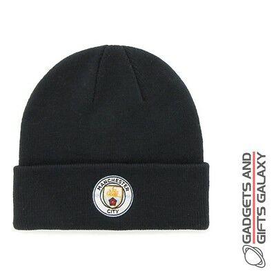 MANCHESTER CITY CUFF KNITTED BEANIE HAT OFFICIAL LICENSED football souvenir gift