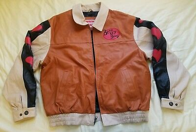 Betty Boop Vintage Leather Jacket American Toons Size L