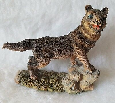 "K's Collection 3.5"" Wolf Standing On Rocks Figurine"