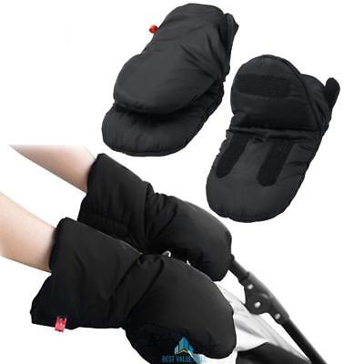 Waterproof Baby Stroller Winter Pram Gloves Useful Pushchair Hand Muff Mittens