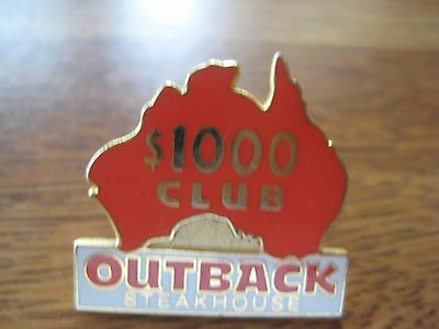 Outback Steakhouse Restaurant $1000 Club Pin Pinback