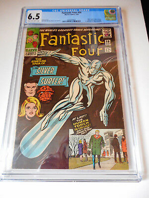 Fantastic Four #50 Cgc 6.5 Marvel 1966 Silver Surfer Battles Galactus Wow Deal!