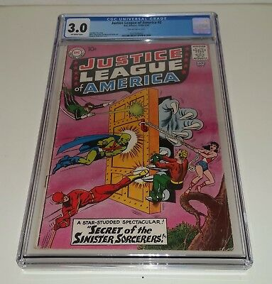 Justice League Of America #2 Dc 1961 Cgc 3.0 Wonder Woman Flash Deal!