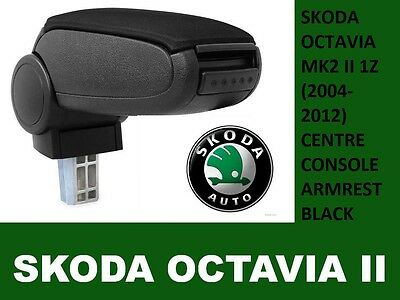 Skoda Octavia Mk2 Ii 1Z (2004-2012) Centre Console Armrest Black Dispatch 24H Uk