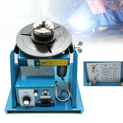 "110v Rotary Welding Positioner Turntable Table 2.5"" 3 Jaw Lathe Chuck 2-10 r/min"
