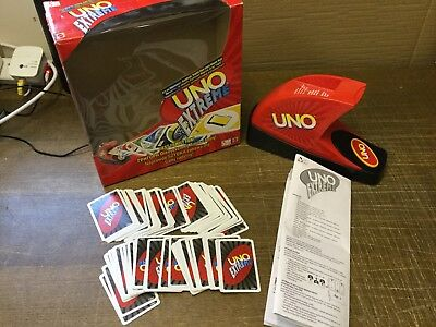 UNO EXTREME Electronic Card Dealing Family Party Game * 100% Complete *