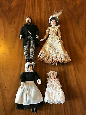 Dolls house dolls and accessories bundle