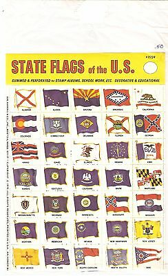 philabec01 Vintage state flags of the United States unopened package