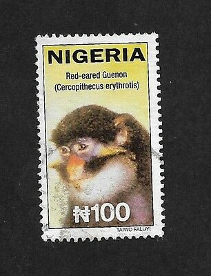 (111cents) Nigeria Red - Eared Guenon used