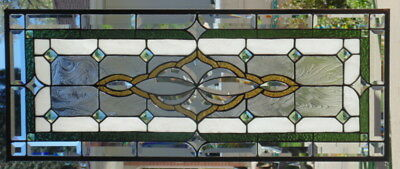 Stained Glass window hanging 35 X 14