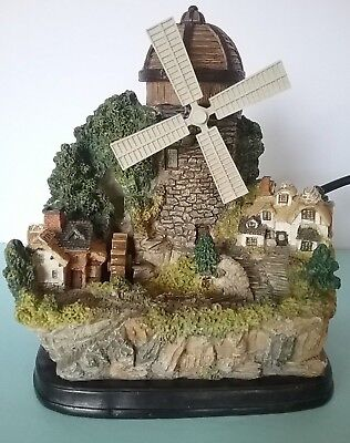 Relaxing Cascading and  Spinning Windmill Serenity Tabletop Pump Water Fountain