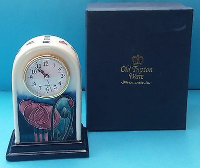 Boxed Pretty Handpainted Old Tupton Ware Mantle Clock