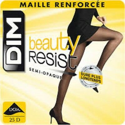 Dim Collants Beauty Resist Semi-Opaque Maille Renforcee 25 D,collants Femme