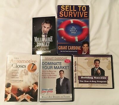 Grant Cardone New/Used Car Sales Package - 2 Audio CD Programs - 2 Books - 1 DVD