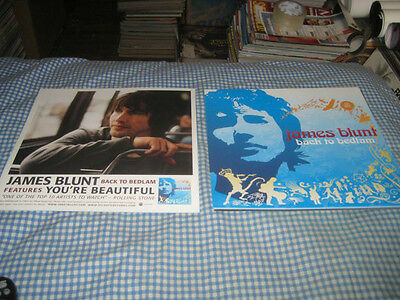 JAMES BLUNT-(back to bedlam)-1 POSTER FLAT-2 SIDED-12X12-NMINT-RARE