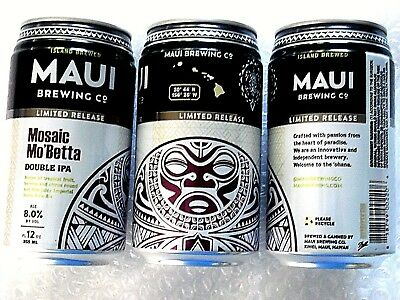 LIMITED RELEASE ~ EMPTY MAUI BREWING MOSAIC MO'BETTA Craft Beer 12 oz Can Hawaii