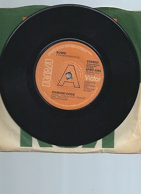 "David Bowie Diamond Dogs Demo 7"" Single"