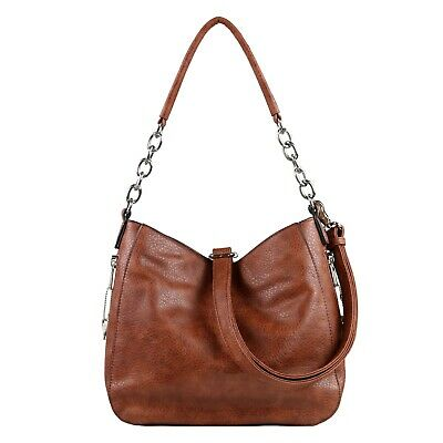 Concealed Carry Purse, Ashley Chain Gun Weapon Hobo Bag by Lady Conceal, Holster