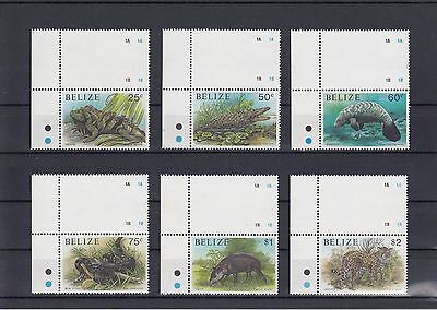 Timbre Stamp  6 Belize Y&t#950-955 Faune Animal Neuf**/mnh-Mint 1991 ~A40
