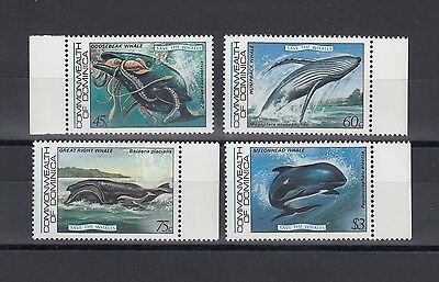 Timbre Stamp  4 Ile Dominica Y&t#759-62 Baleine Whale Neuf**/mnh-Mint 1983 ~A40