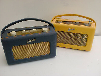 Roberts Revival Radios 1 Blue 1 Yellow AM/FM/LW Blue Working Yellow Spare/repair