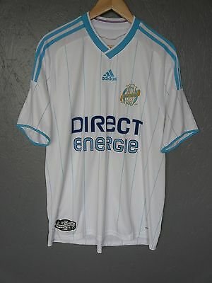 Vtg Olympique de Marseille Adidas 2009 Home Football Shirt Trikot Sz Large (032)
