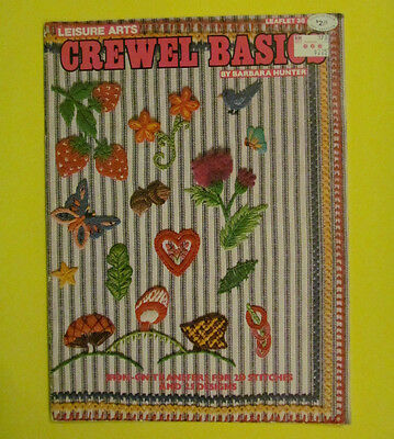 Crewel Basics by Leisure Arts Leaflet 38 1974 Complete with Transfers Vintage