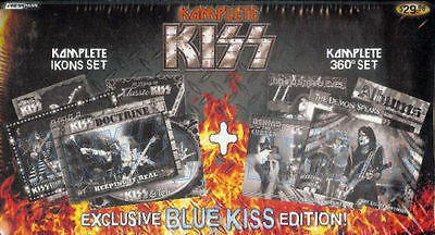 kiss factory card set special blue edition with 5 card bonus set inside sealed