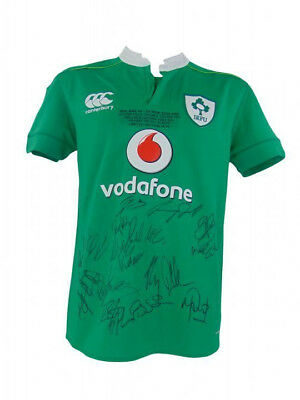 Ireland Rugby Signed Limited Edition Historic Win V All Blacks Shirt+Photo Proof