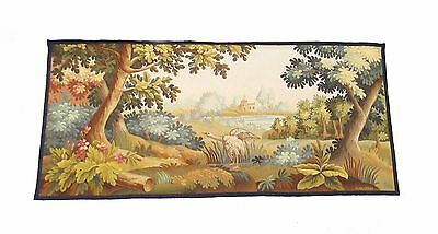 A Gorgeous Horizontal Aubusson Tapestry Depicting a Bird